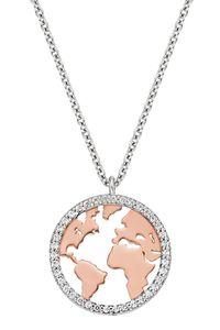 Engelsrufer ERN-WORLD-BICOR-ZI Halskette Anhänger Weltkugel Silber Rosé