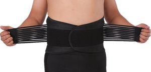 Bandscheiben-Gürtel gegen Rückenschmerzen Rückenstützgürtel Rückenbandage XXXL = 120-130 cm Bauchumfang für Damen Herren aus Neopren Arbeit Sport Freizeit