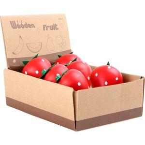 Small Foot 10145 Erdbeere aus Holz, für Kaufladen, 8-teilig (1 Set)
