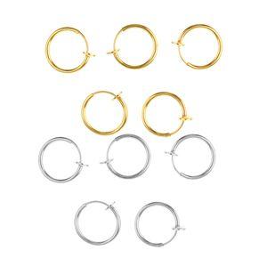 10 Stücke Clip auf Nasenring  Ohrstecker-Ring Piercing-Nasenstecker