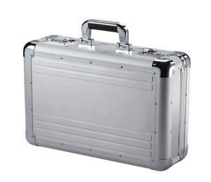 Alu Attache Case Dokumenten Aluminium Laptop Aktenkoffer 45 cm Silber Bowatex