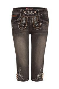 MOSER Damen Trachtenhose kniebund schwarz used Stretch Franziska 007741 Größe: 38