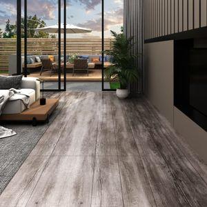 PVC-Laminat-Dielen 5,02 m² 2 mm Selbstklebend Mattbraun Holz
