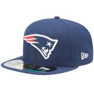 New Era NFL On Field Cap - NEW ENGLAND PATRIOTS - Blue, Size:7