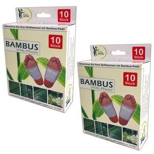 20x Bambus Pads Vitalpflaster | Bambuspflaster Fusspflaster Fußpflaster Fußpads Vital