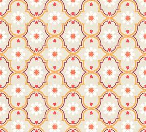 Livingwalls Vliestapete Cozz Ökotapete grau beige orange 10,05 m x 0,53 m 362972 36297-2