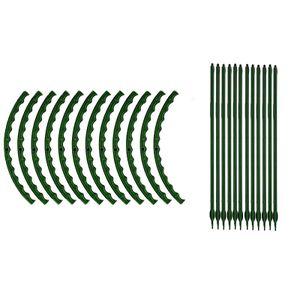 12er Set Pflanzstäbe, Rankhilfe, U-förmige Pflanzenstäbe, Pflanzen Stab, Stäbe Pflanzenstütze, Pflanzhilfe Rankstäbe