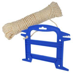 Lantelme Wäscheleine Sisal 50 Meter und Seilwickler Set