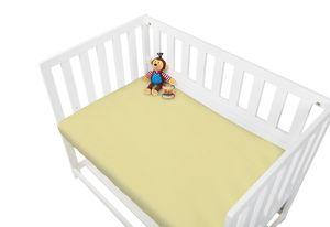 Frottee-Spannbetttücher für Wiegen, Anstellbettchen und Kinderwagen im Doppelpack, gelb