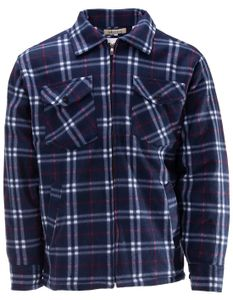 Herren Thermojacke Arbeitsjacke Thermohemd Holzfällerhemd, Farbe:Navy, Größe:XL