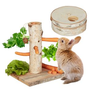 relaxdays 2 tlg. Kaninchen Spielzeug Set