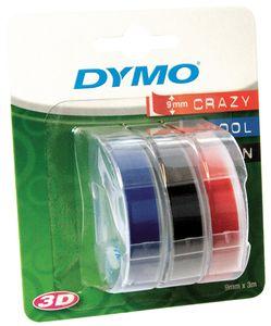 DYMO Prägeband 3D 9 mm breit 3 m lang sortiert glänzend 3 Bänder