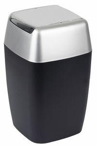 """Spirella Kosmetikeimer """"Retro"""" mit Schwingdeckel 7 Liter (ØxH): 20 x 33 cm Schwarz"""