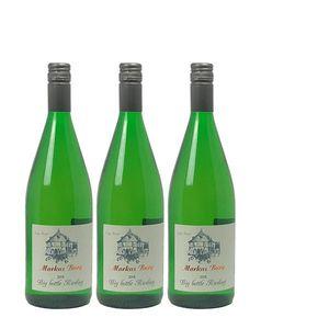 Weißwein Mosel Riesling Weingut Markus Burg Qualitätswein Big Bottle  trocken und vegan (3 x 1,0l)
