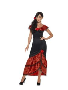 Damen Kostüm Flamenco Spanierin Karneval Fasching Gr.L