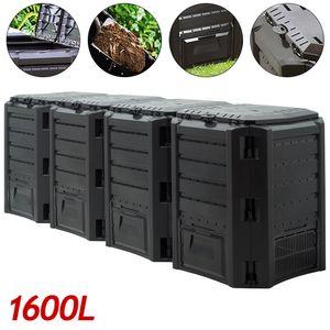 Komposter Gartenkomposter 380L - 800L - 1200L - 1600L Thermokomposter Schnellkomposter, Liter:1600 Liter