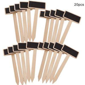20pcs Holz Pflanzschilder Kräuterschilder Steckschilder Pflanzenstecker Pflanzetiketten Set