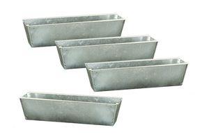 Pflanzkasten für Europaletten - 4 Stück - verzinkt ca. 35,5x12,5 cm