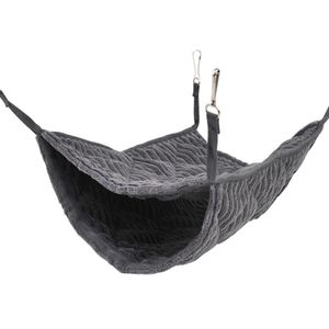 Kleintier-Hängematte, Frettchen-Hängematte, Hängematte und Tunnelkäfig-Anzug für Ratten(grau)