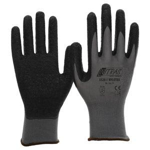 Nitras Arbeitshandschuh Nylotex schwarz/grau 3520  Gr. 8