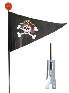 Fahrradwimpel  Pirat Sicherheitswimpel Fahrrad Fahne Flagge Fähnchen Verdrehschutz Wimpel