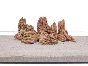 Aquarium Natursteine Drachenstein Deko Felsen braun 1 Stück Gr.M 300-700g Nr.62