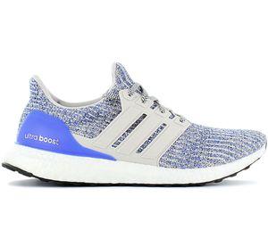 adidas ULTRA BOOST 4.0 - Primeknit - Herren Sneaker Laufschuhe Weiß-Blau CP9249 , Größe: EU 40 2/3 UK 7