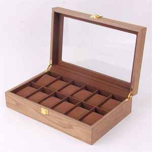 12 Uhren Uhrenboxen Uhrenetui Uhrenkasten Watch Display Case Box Holz Wood