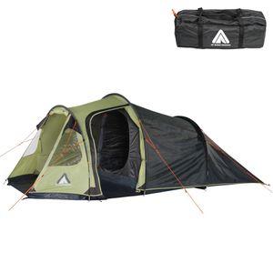 10T Mandiga 3 Beechnut - Tunnelzelt für 3 Personen, Campingzelt mit großer Schlafkabine, wasserdichtes Familienzelt mit
