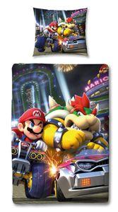 Nintendo Super Mario Kart Wende-Bettwäsche BUMP 135x200 80x80cm 100% Baumwolle Linon