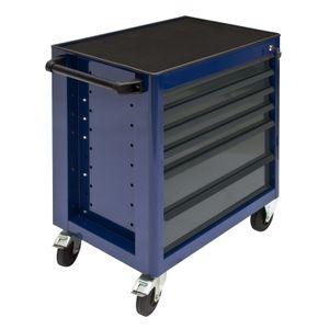 Werkstattwagen | Schubladenschrank 'Fernando' 5..9 Schubladen blau anthrazit/rot, Serie Fernando:Schubladenschrank 7 Schubladen. anth./rot (24800)