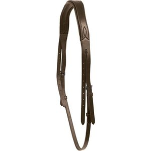 Collegiate Leder Mono Crown Kopfstück WB1064 (Warmblut) (Braun)