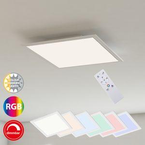 LED Panel Ultraflach RGB CCT Deckenleuchte Dimmbar 18W Weiß Briloner Leuchten