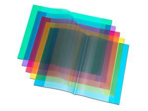 Heftumschlag / Hefthülle DIN A4 / Farbe: transparent blau