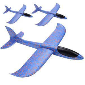 Gleitflieger Wurfgleiter 3er-Set XL Blaue Styropor-Flieger 37cm von JuniorToys