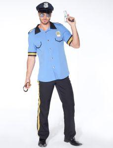 Kostüm Polizist hellblau 2-tlg. Größe: 56