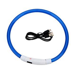 LED Hunde Leuchthalsband Leuchtschlauch USB Sicherheitshalsband Halsband