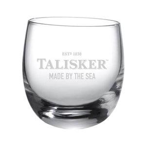 Talisker Rocking Glas mit Logo und Schriftzug, Single Malt Whiskey Whisky Alkohol Drink Glas, 250 ml, 100502