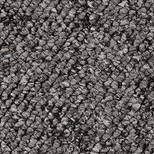 Teppichboden, Auslegware, Meterware, 400 cm x 450 cm, dunkelgrau, Schlinge