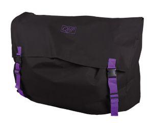 QHP Stall Packsack Boxentasche für Decken und Pflegeartikel in Schwarz / Violett