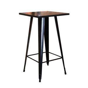 WYCTIN Bartisch Stehtisch Bistrotisch Beistelltisch Gartentisch Schwarz 60*60*103cm