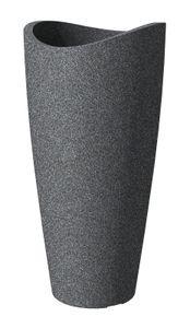 Scheurich 254/80 Hochgefäß Wave Globe High Slim Schwarz Granit - 39,5 cm x 39,5 cm x 80 cm; 55375