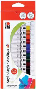 Marabu Acrylfarbe 12 ml 12er Set