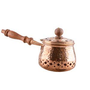 Räucherpfanne Kupfer mit Holzgriff Handarbeit für Weihrauch Hausreinigung 2836
