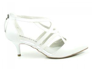 Tamaris Schuhe Damen Pumps Sandaletten Leder 1-24423-22, Schuhgröße:37, Farbe:Weiß