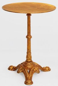 Casa Padrino Luxus Barock Beistelltisch Antik Gold Ø 50 x H. 66 cm - Runder Massivholz Tisch - Barock Möbel