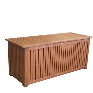 Auflagenbox Hartholz Eukalyptus 133x58x55cm