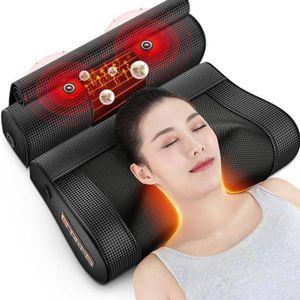 Nackenmassagegerät Ganzkörper Multifunktionales Kneten Von Wirbel Massagekissen - Shiatsu Massagegerät Nacken Rücken Schulter Massage, Schwarz