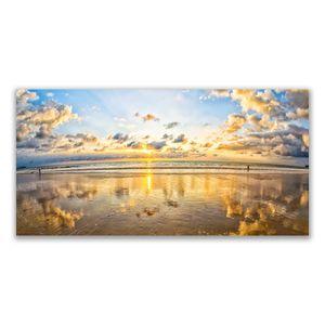 Glasbilder 140x70 Wandbild Druck auf Glas Meer Landschaft