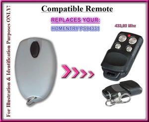Kompatibel mit HOMENTRY ps94331 Fernbedienung kompatibel Sender ersatz, Schlüsselanhänger
